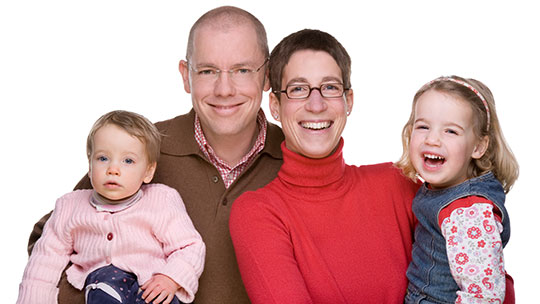 heterosexuelle Paare mit Kindern